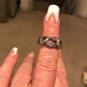 Jewelry - Sterling silver ring amethyst and blue topaz